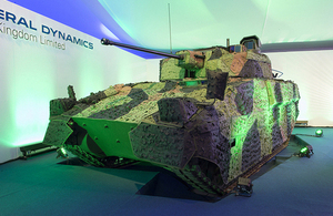 A prototype of the new Scout specialist vehicle [Picture: Andrew Linnett, Crown copyright]