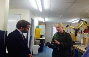 His Royal Highness Prince Mired during his visits to UK military medical and rehabilitation centres