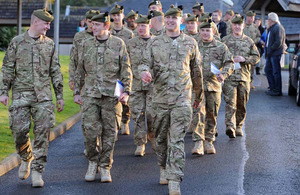 Soldiers from 1st Battalion The Royal Regiment of Scotland
