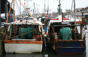 Fishing vessels in North Shields