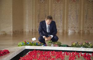 Mr Swire at the Australian War Memorial