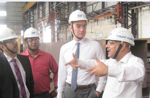 Scott Furssedonn-Wood at Tata Steel in Jamshedpur