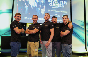 Members of the British Invictus Games team [Picture: Crown copyright
