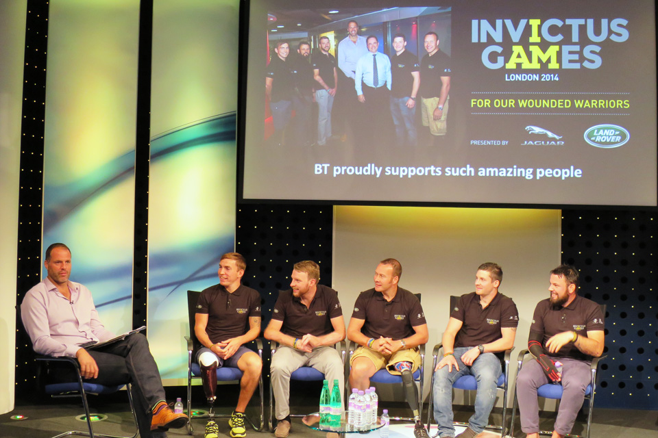Members of the British Invictus Games team