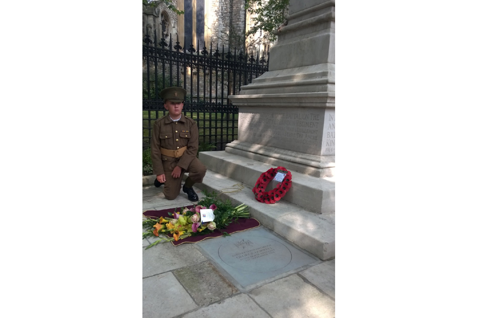 Young cadet pays tribute