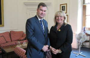 Minister David Gauke and Kerry-Lynne Findlay