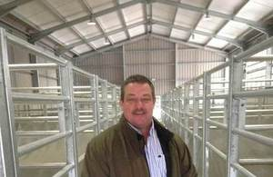 Kevin Burrows in brand new extended stock holding facilities at C & K Meats
