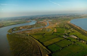 High tides enter the newly created Steart Marshes, 8 September 2014