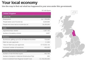 Your Local Economy - map showing data on regional economy