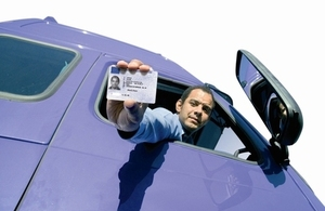 Driver with driver qualification card
