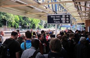 Overcrowded platform
