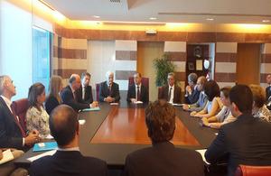 DFID Minister Desmond Swayne with Education Minister Elias Bou Saab