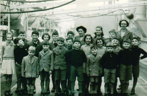 Image of children on a ship