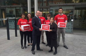 Shelter hand petition to Stephen Williams and Sarah Teather MP