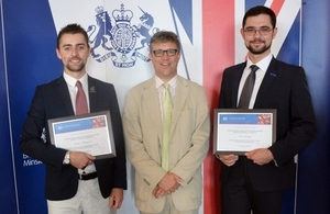 Ambassador Bruce Bucknell with Chevening scholars from Belarus