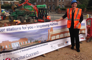 Baroness Kramer visits rail improvements works