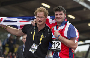 Prince Harry with Team GB captain David Henson [Picture: Sergeant Pete Mobbs RAF, Crown copyright]