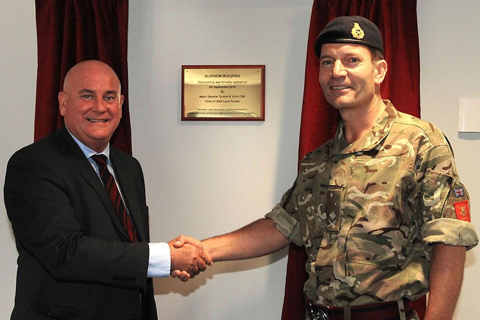 David Graham and Major General Tyrone Urch