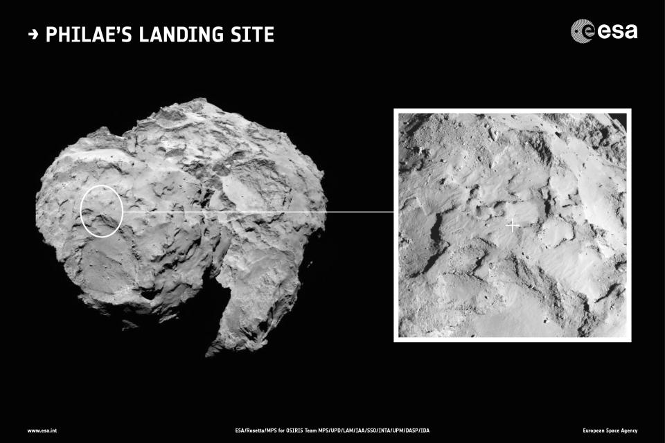 Philae landing site.