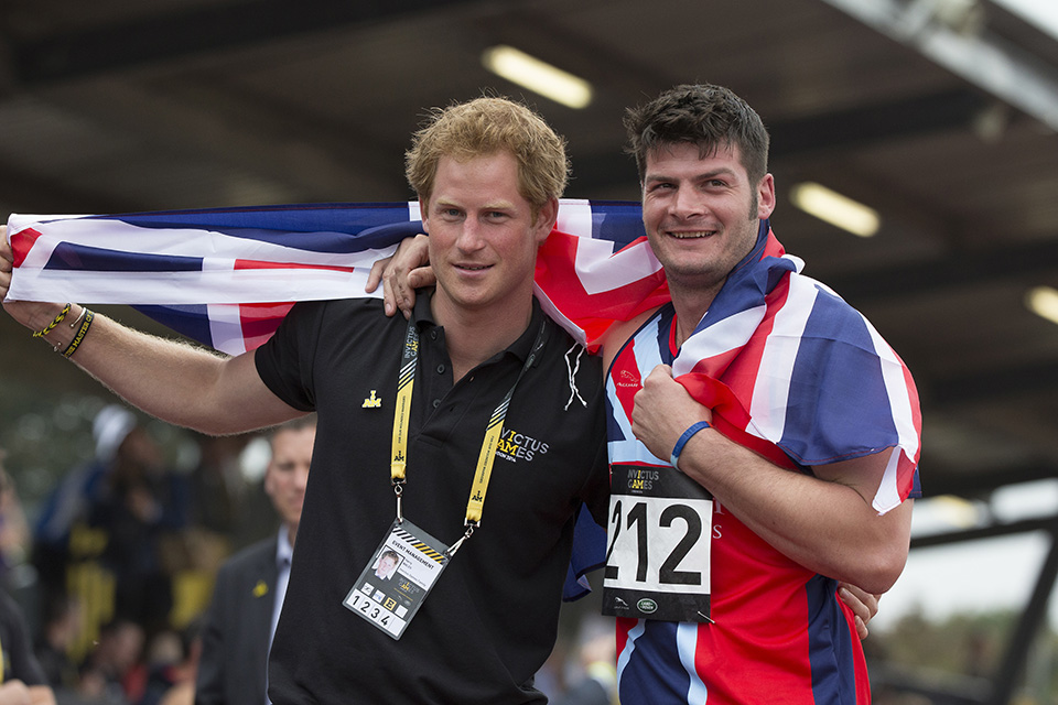 Prince Harry with Captain David Henson