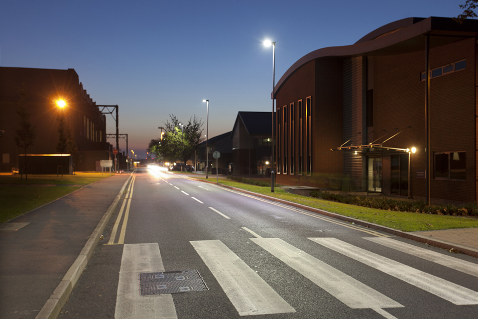 New street lighting at RAF Northolt