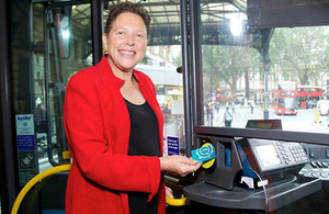 Baroness Kramer on bus