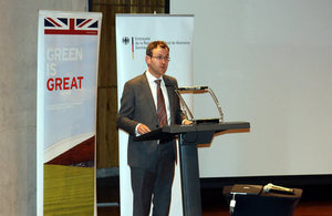 Deputy Head of Mission, Mal Green, speaks at event.