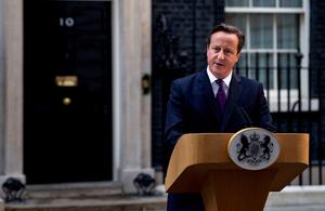 Scottish independence referendum statement by the prime minister gov uk - Office of prime minister uk ...