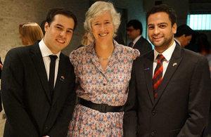 Ambassador Nettleton with Venezuelan Chevening scholars