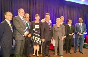 Representatives of the UN at the REDD+ forest event