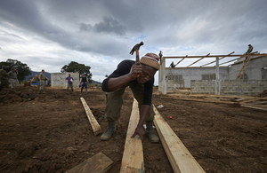 Construction begins on the UK medical facility in Sierra Leone. Picture: Rob Holden/Save/DFID
