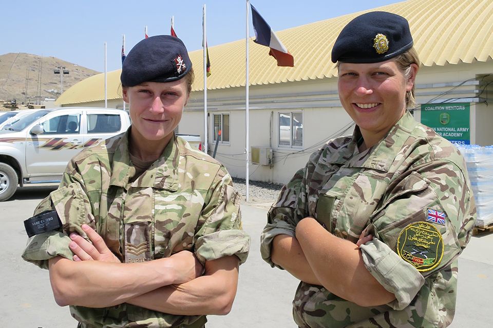 Sergeant Zoe Leeming and Major Cath Carter