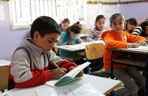 Syrian students back to school in Lebanon