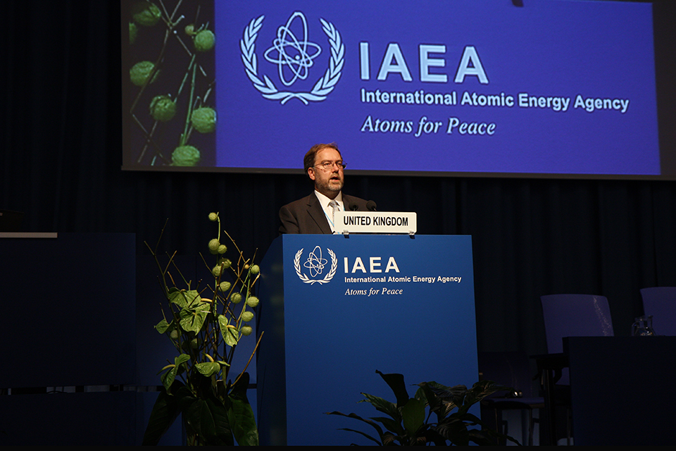 FCO Chief Scientific Advisor Robin Grimes delivering the 2014 IAEA General Conference statement
