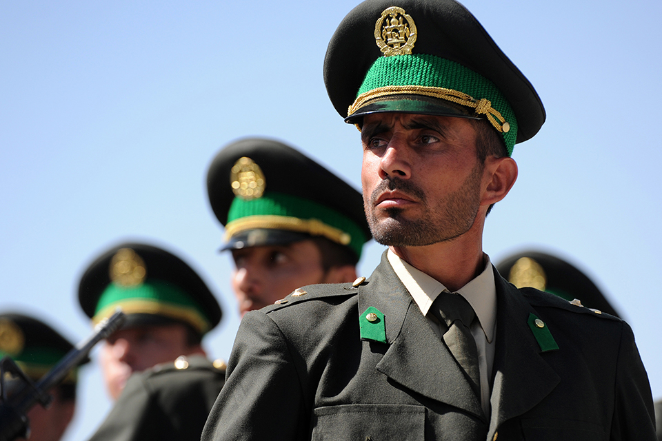 Afghan National Army officer graduate