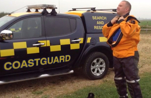 Coastguard getting changed.