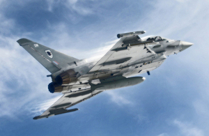 RAF Typhoon during training sortie [Picture: Senior Aircraftman Andrew Seaward, Crown copyright]