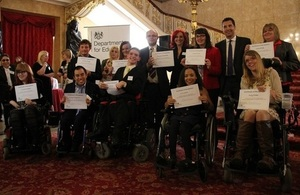 Reception for young adults to be thanked by minister for helping to mould government policy