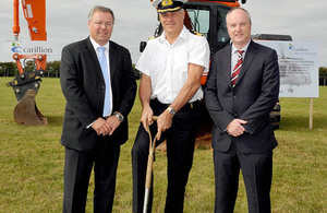 Trevor Pratt, Commodore Jock Alexander and Matt Harris [Picture: Crown copyright]