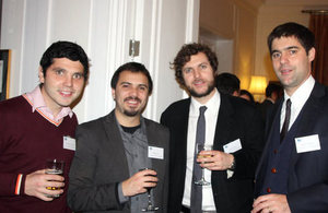 Chevening scholars at the British residence.