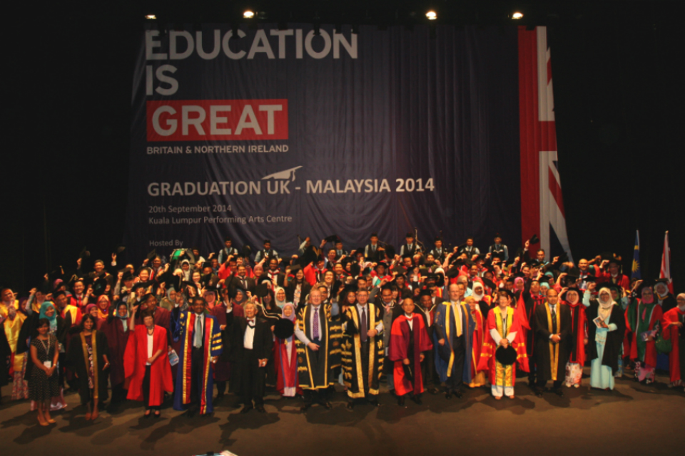 Graduation UK 2014 in Kuala Lumpur is an event for graduates of UK universities to share the special moment with their loved ones