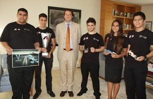 "British Ambassador hosted Doha British School's team ""Vortex Racing"""