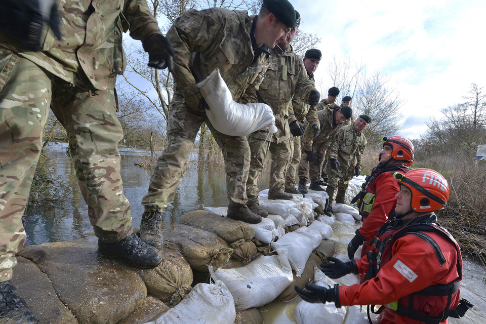 Reservist soldiers from 7th Battalion The Rifles