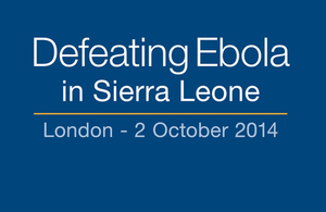 Defeating Ebola in Sierra Leone Conference