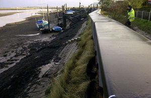 Temporary defences at Hullbridge
