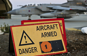 An RAF Tornado at RAF Akrotiri in Cyprus [Picture: Corporal Neil Bryden RAF, Crown copyright]