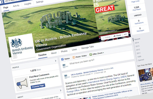 British Embassy Vienna Facebook page