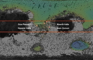 Rover landing site candidates