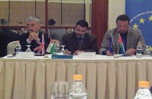 British Ambassador Peter Millett at the UK led EU-Jordan Justice reform project