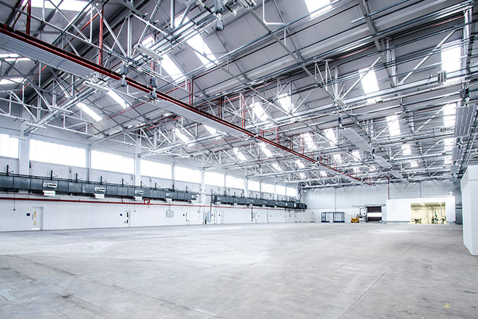 Inside the new hangar
